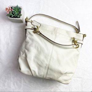 Coach White Leather Shoulder Bag